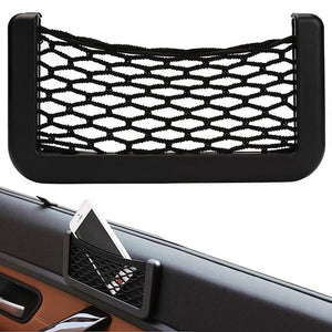 Car Net  Bag Car Organizer Nets 15X8cm Automotive Pockets  With Adhesive Visor Car Syling Bag Storage for tools Mobile phone - Riseatop.store