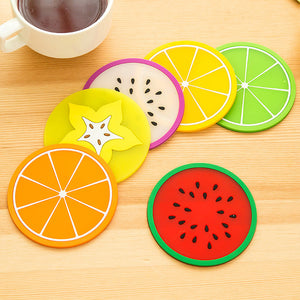 Non-slip Fruit Placemat Cup Mat Pads Coffee Mug Drink Coasters Dining Table Placemats Desk Accessories - Riseatop.store