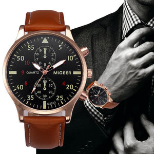 Leather Quartz Luxury  Watches - Riseatop.store