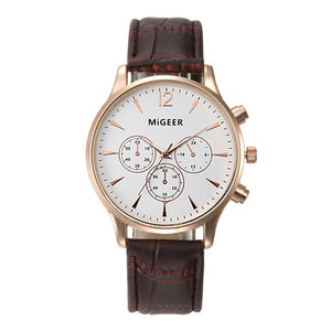 Women Leather Quartz Sport Watch - Riseatop.store