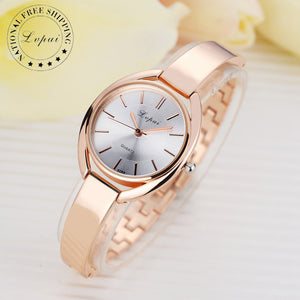 Women Bracelet Quartz Sport Rose Gold Watch - Riseatop.store