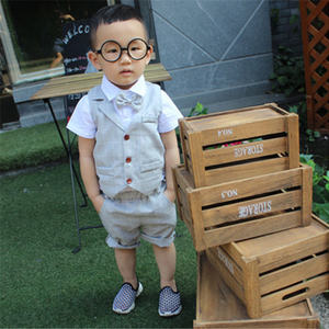 Children Soft Short Shirt + Plaid Waist Coat - Riseatop.store