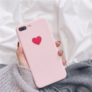 Red Love Heart For Case iphone X For iphone 6 6S 7 8 Plus - Riseatop.store