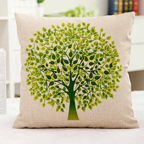 Green Tree Accent Pillow