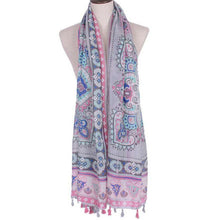 BOHO Paisley Voile Scarf