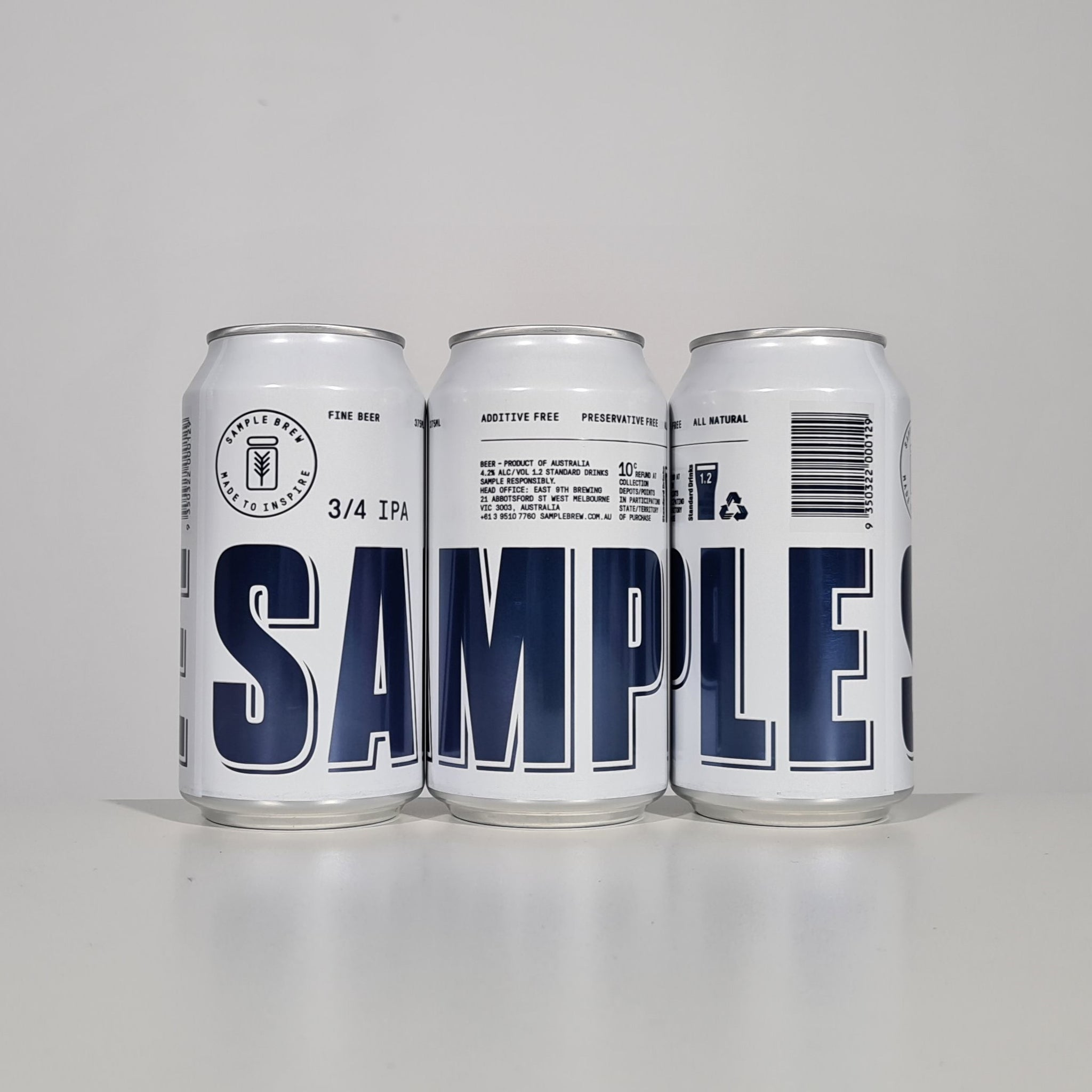Sample 3/4 IPA Footy Finals Quad Case