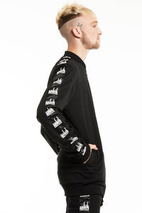 LONGLINE LOGO ZIP THROUGH
