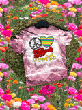 Peace Love Crawfish Mardi Gras Sublimation Transfer or Tee