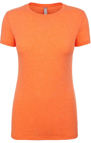 Neon Heather Orange and Pink Women's Tee