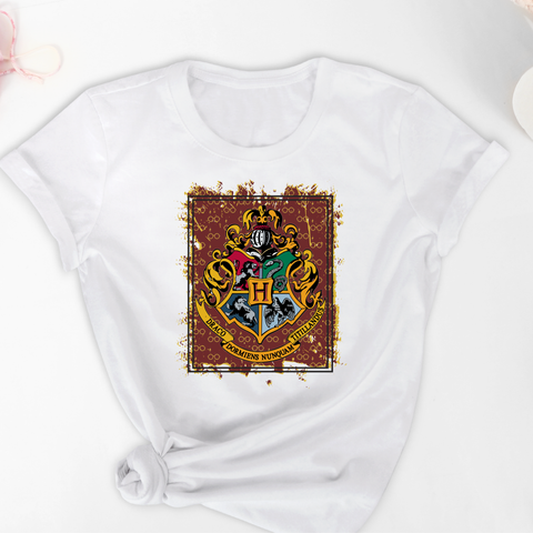 HP Hogwarts Bleached or Solid Shirt Transfer Sublimation