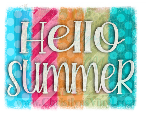 Hello Summer Custom Sublimation Transfer