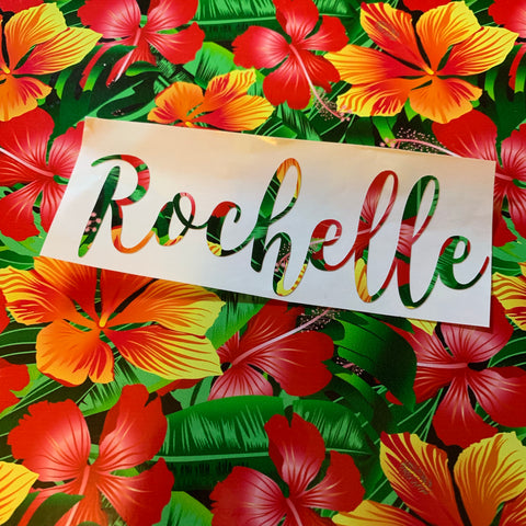 Tropical Name decal