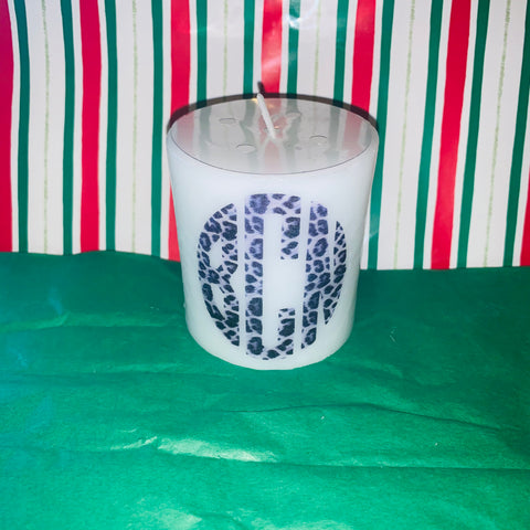 Personalized Candle with photo, monogram, etc.