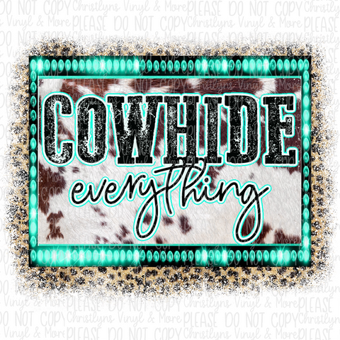 Cowhide Everything Sublimation Transfer