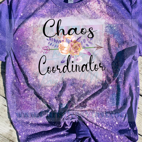 Chaos Coordinator Colorful Pink Bleached or Solid Shirt