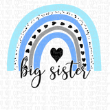 Big Sister Rainbow Sublimation Transfer