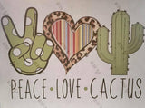 Peace Love Designs Sublimation Transfer