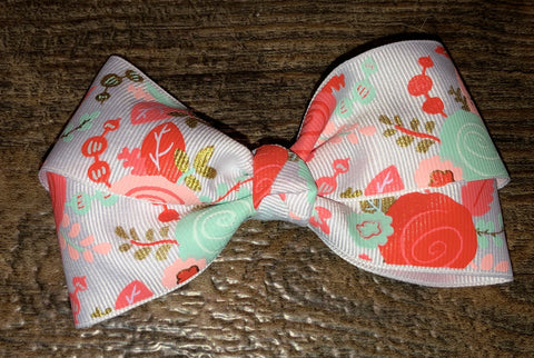 "4"" Floral Bow"