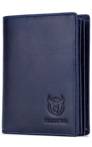 Bullcaptain Genuine Leather Bifold Wallet/Credit Card Holder for Men