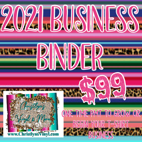 Business In A Binder: Screen Print or Sublimation