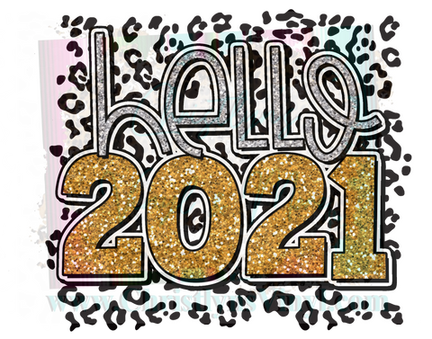 2021 New Year Sublimation Transfers