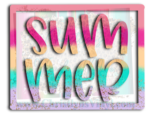 Summer Colorful Sublimation Transfer