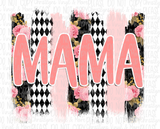 Mama Mini Floral Brushstroke Matching Sublimation Transfer
