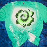 Lucky Shamrock Tie Dye Bleached Tee or Sublimation Transfer