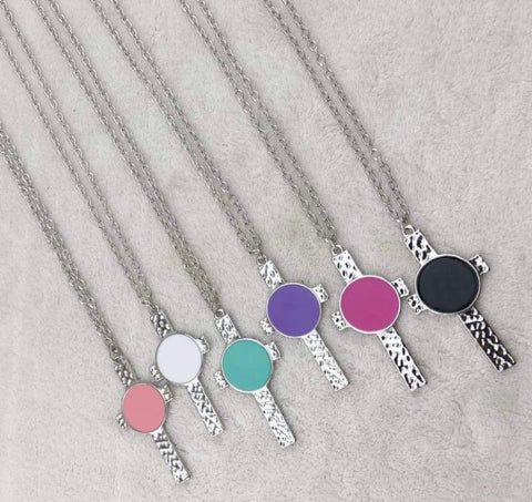 Cross Easter Spring Silver Necklace