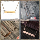 Personalized Necklaces *Pre-Order*