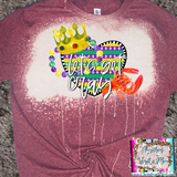 Let's Get Cray Crawfish Mardi Gras Sublimation Transfer