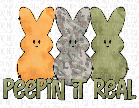 Peepin it Real Bunny Peeps Easter Sublimation Transfer
