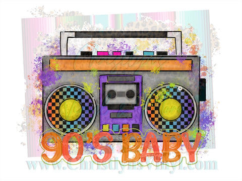90s Baby Boombox Sublimation Transfer