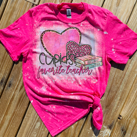 Cupid's Favorite Teacher Valentine Sublimation Transfer