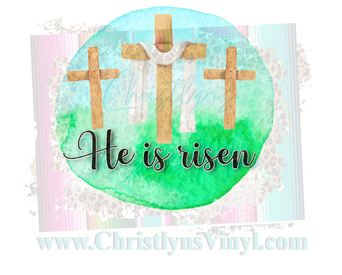 He is Risen Easter Sublimation Transfer