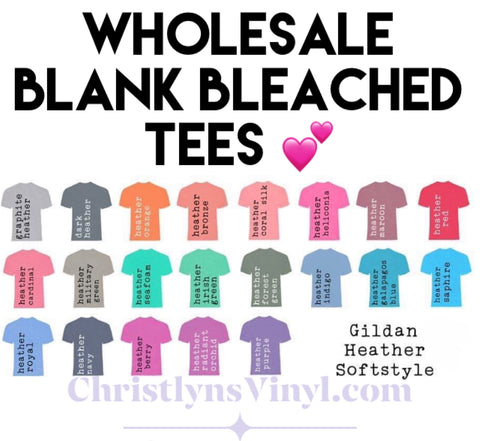 Wholesale Bleached Blank Tees
