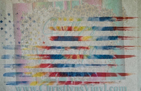Flag USA Presidents Sublimation Transfers