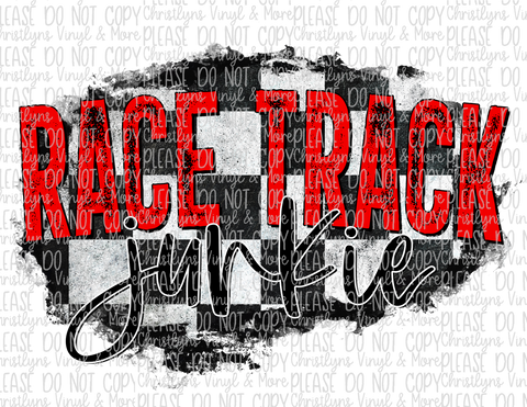 Racetrack Junkie Racing Sublimation Transfer