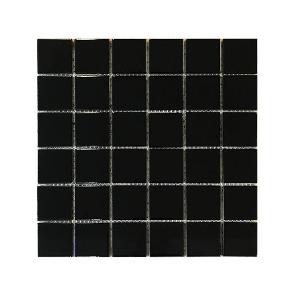 300x300mm Black Gloss Mosaic