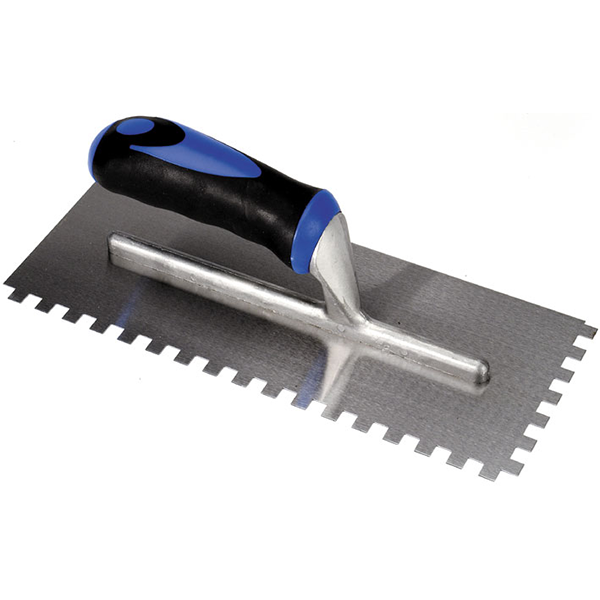 Bright Steel Notched Trowel
