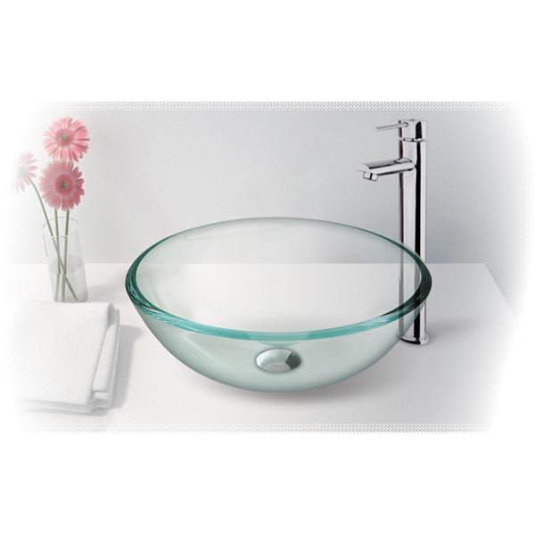 CRYSTAL CLEAR Glass Bowl Basin