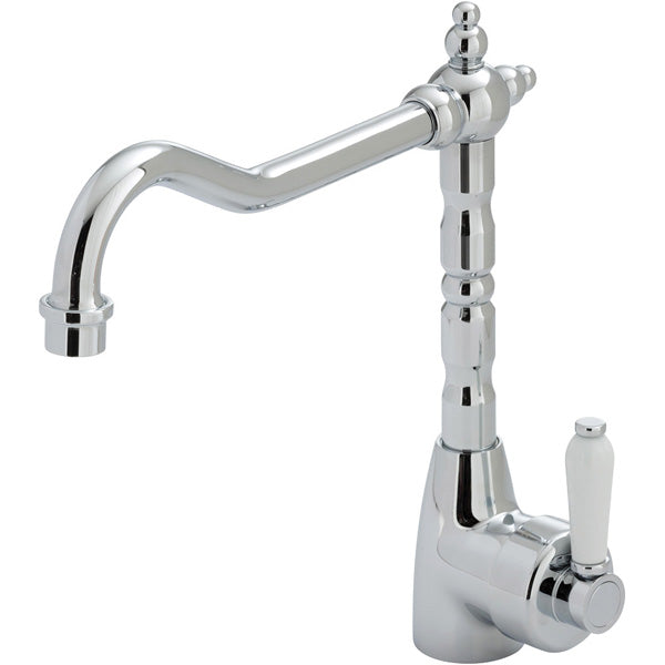 ELEANOR Shepherds Crook Sink Mixer Chrome