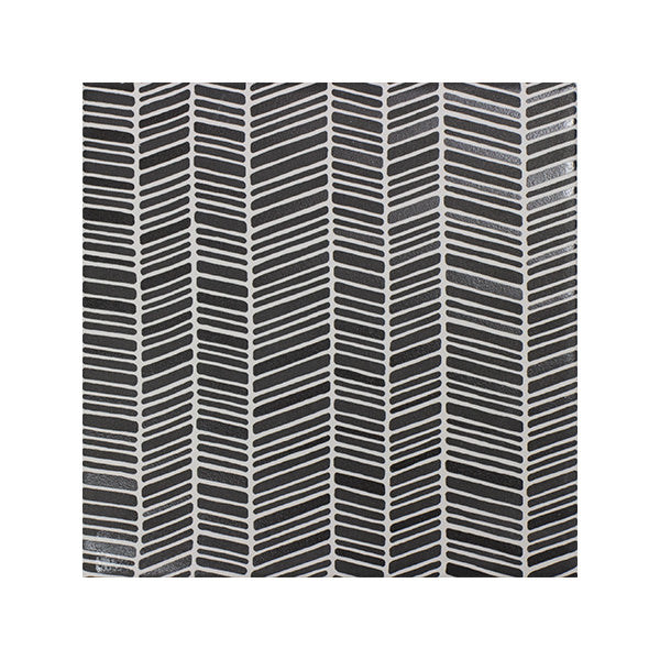 150x150mm Aquarel Dark Grey Dec Chevron Matt