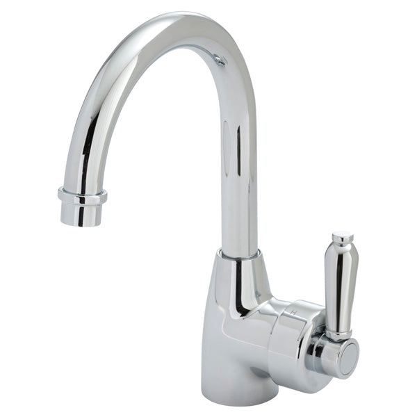 ELEANOR Gooseneck Basin Mixer Chrome / Chrome