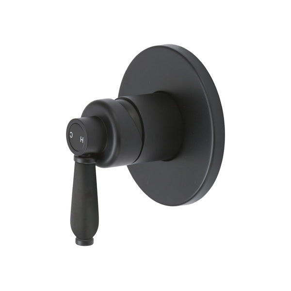ELEANOR Wall Mixer, Matte Black / Matte Black