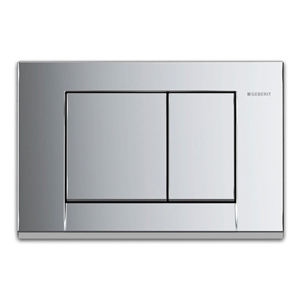 GEBERIT Bolero Chrome Square Button Flush Plate