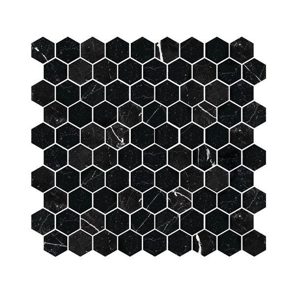 Nero Marquina Hex Honed