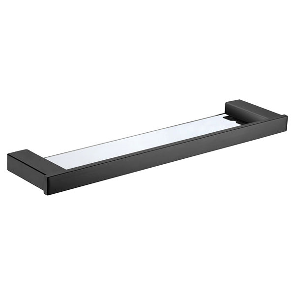 KOKO Matte Black Glass Shelf