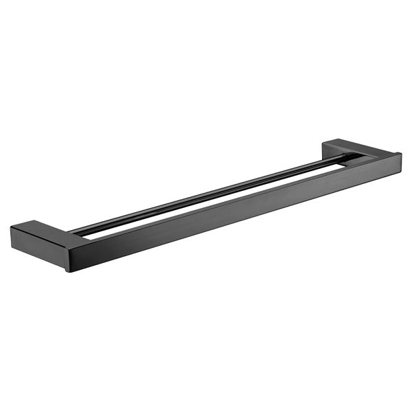 KOKO Matte Black Towel Rail, Double 610