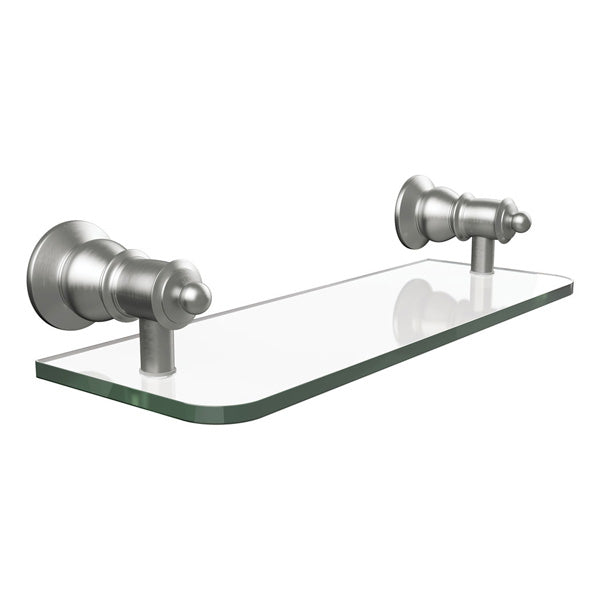 LILLIAN Glass Shelf, Brushed Nickel